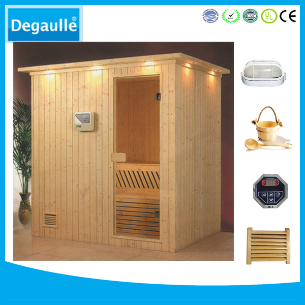 Outdoor Cheap traditional dry steam sauna room