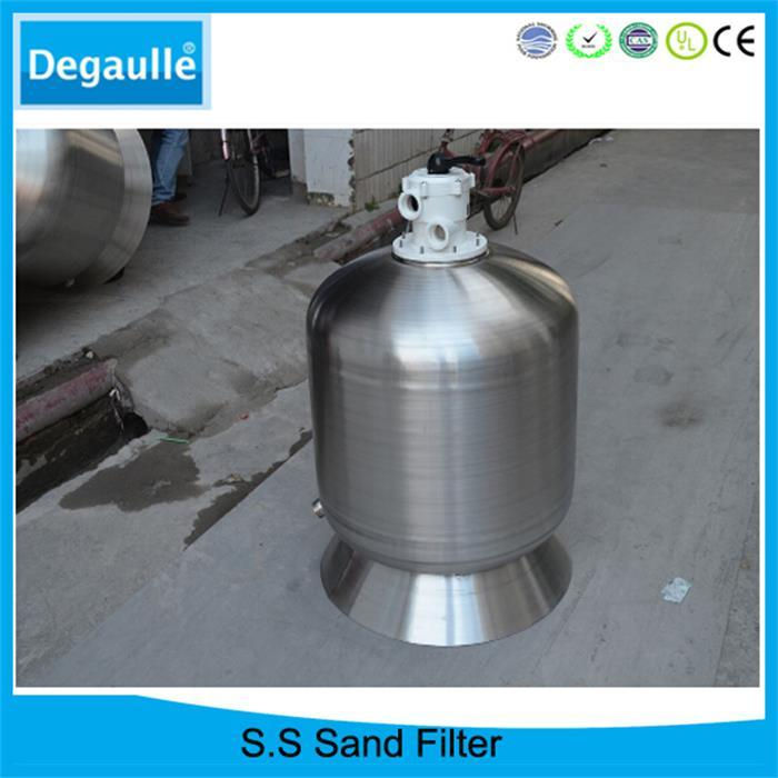 rapid swimming pool filter sand  top mount S.S sand filter